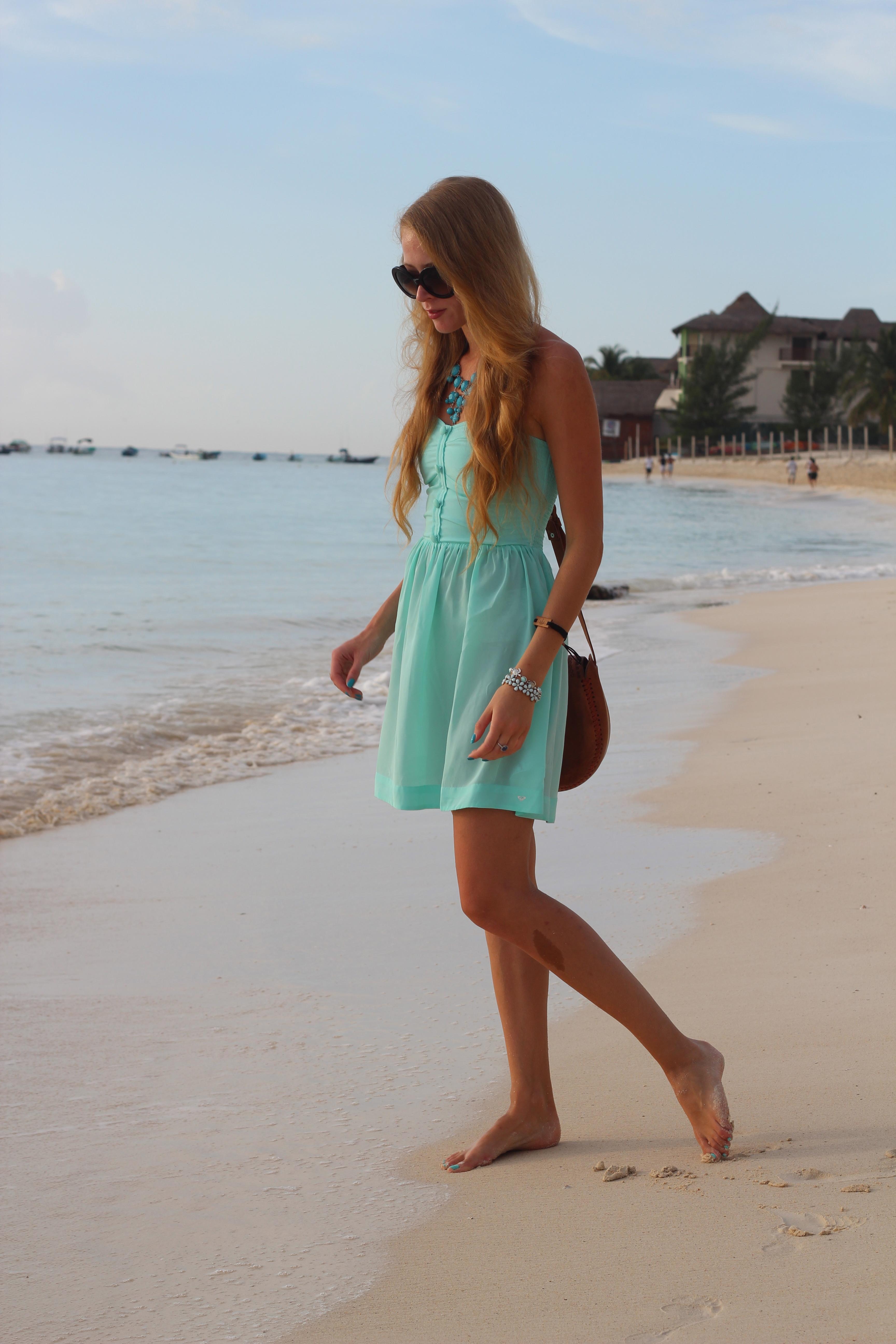 roxy dress in water mint
