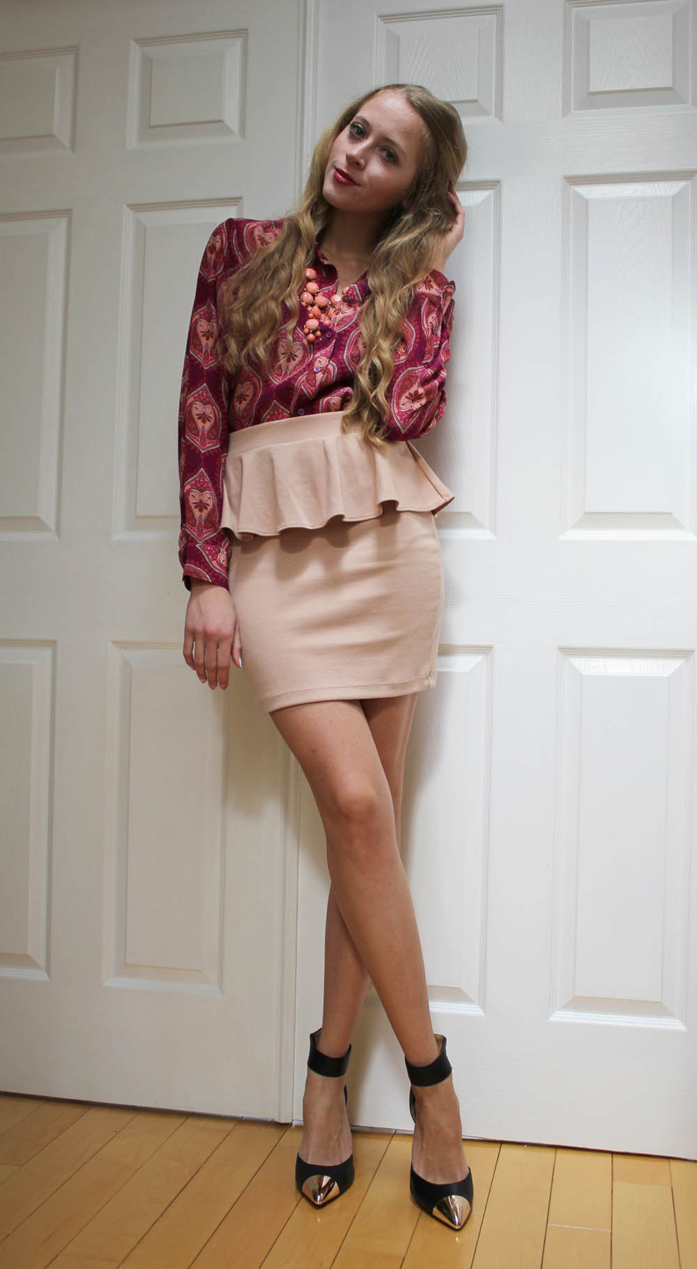 joe fresh silk shirt forever 21 peplum skirt