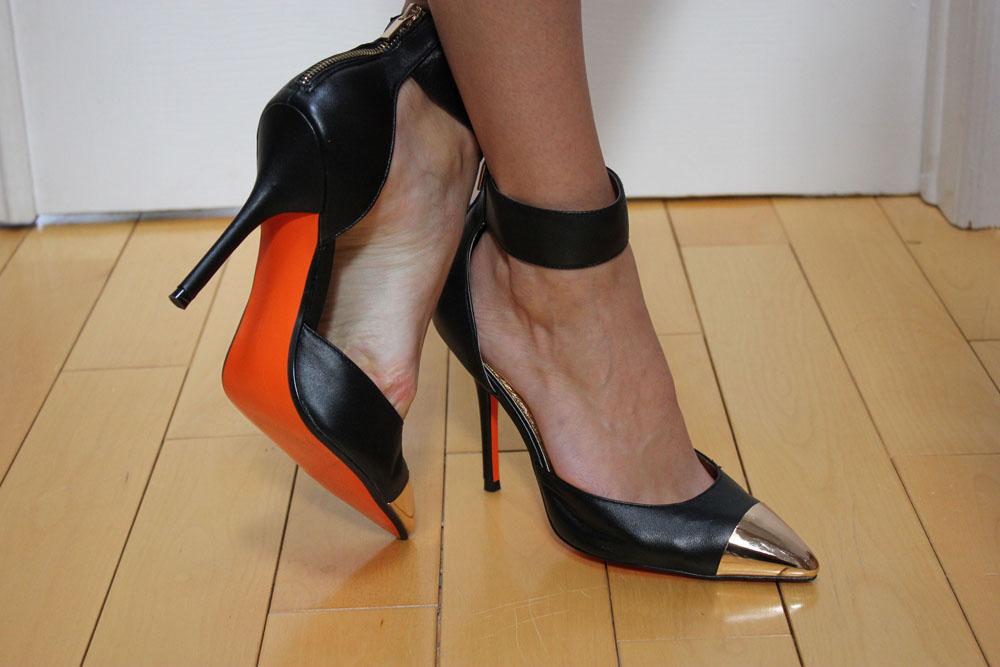 joe fresh heels orange sole