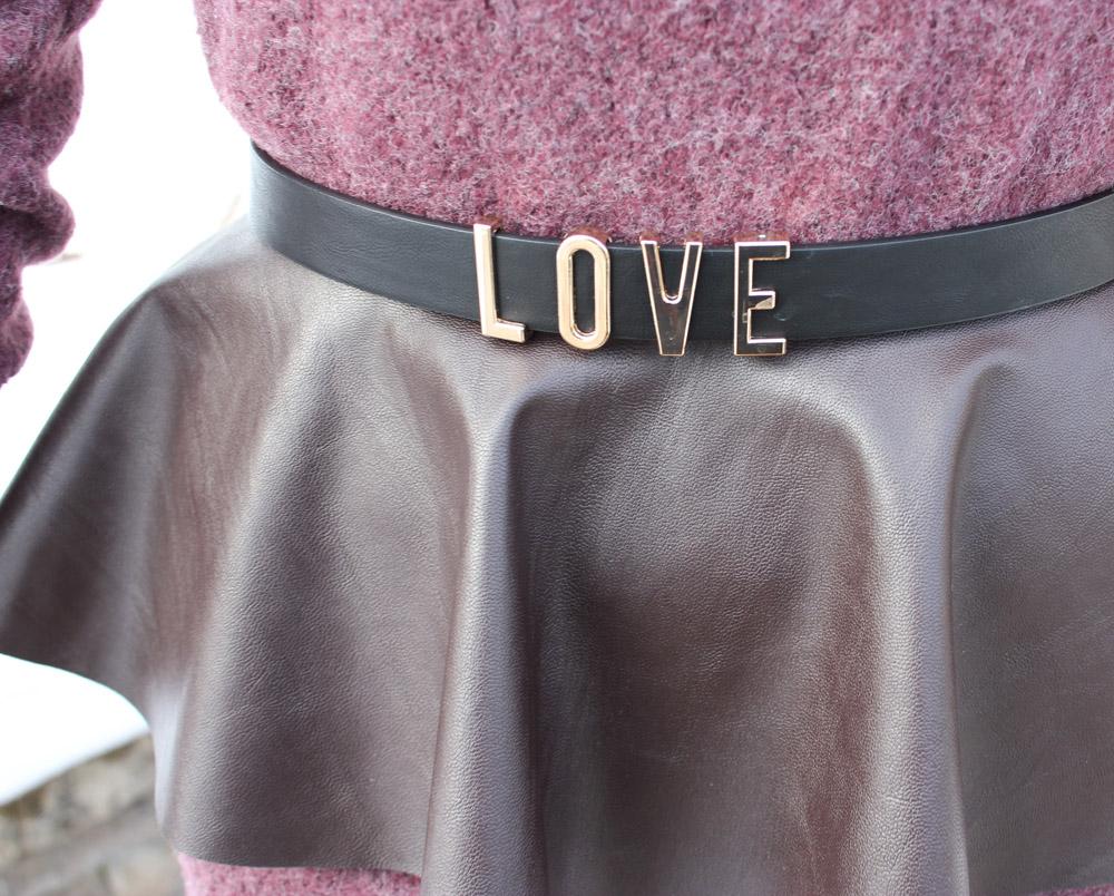 love belt forever 21 detail