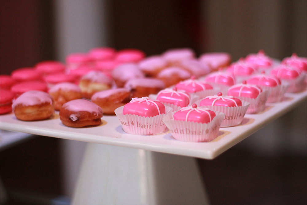pink mini desserts