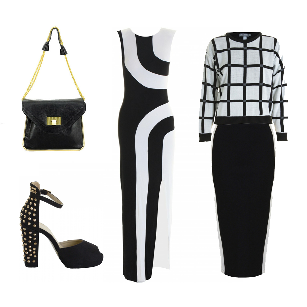 black and whit in love with fashion