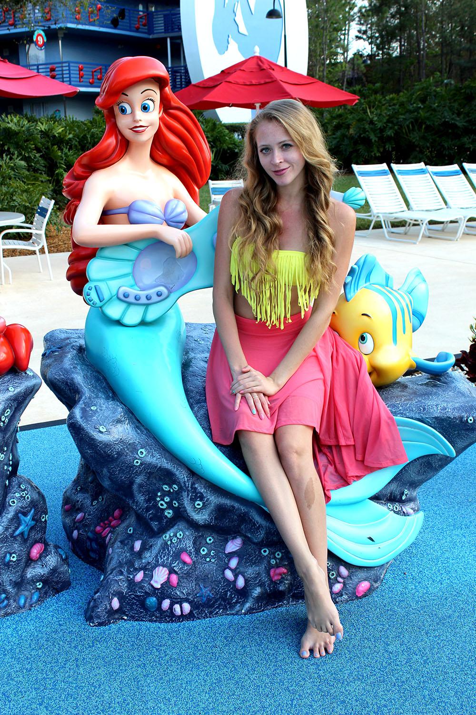 the little mermaid yellow bikini