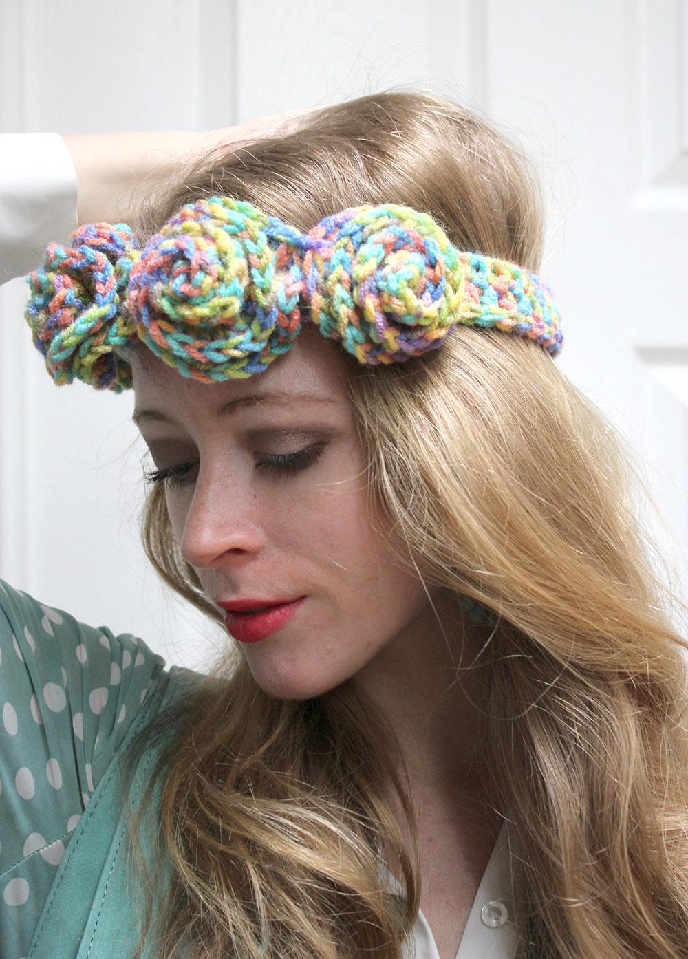crochet flower crown coachella