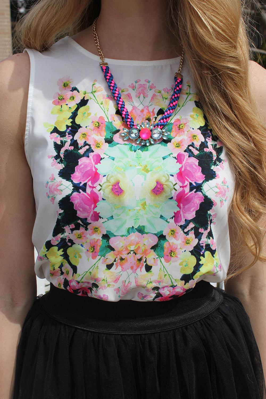 h&m floral print top