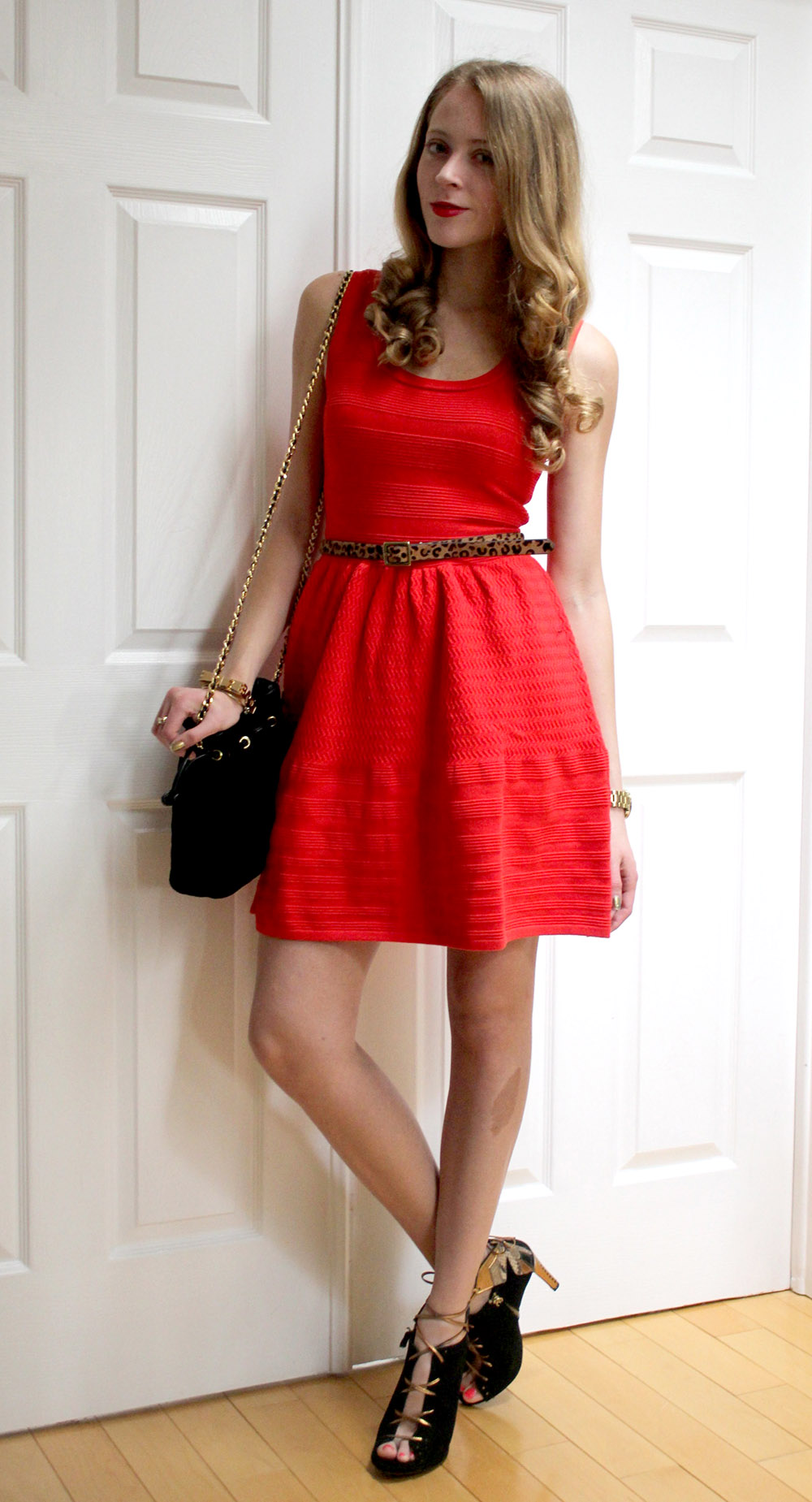 red knit juicy couture dress