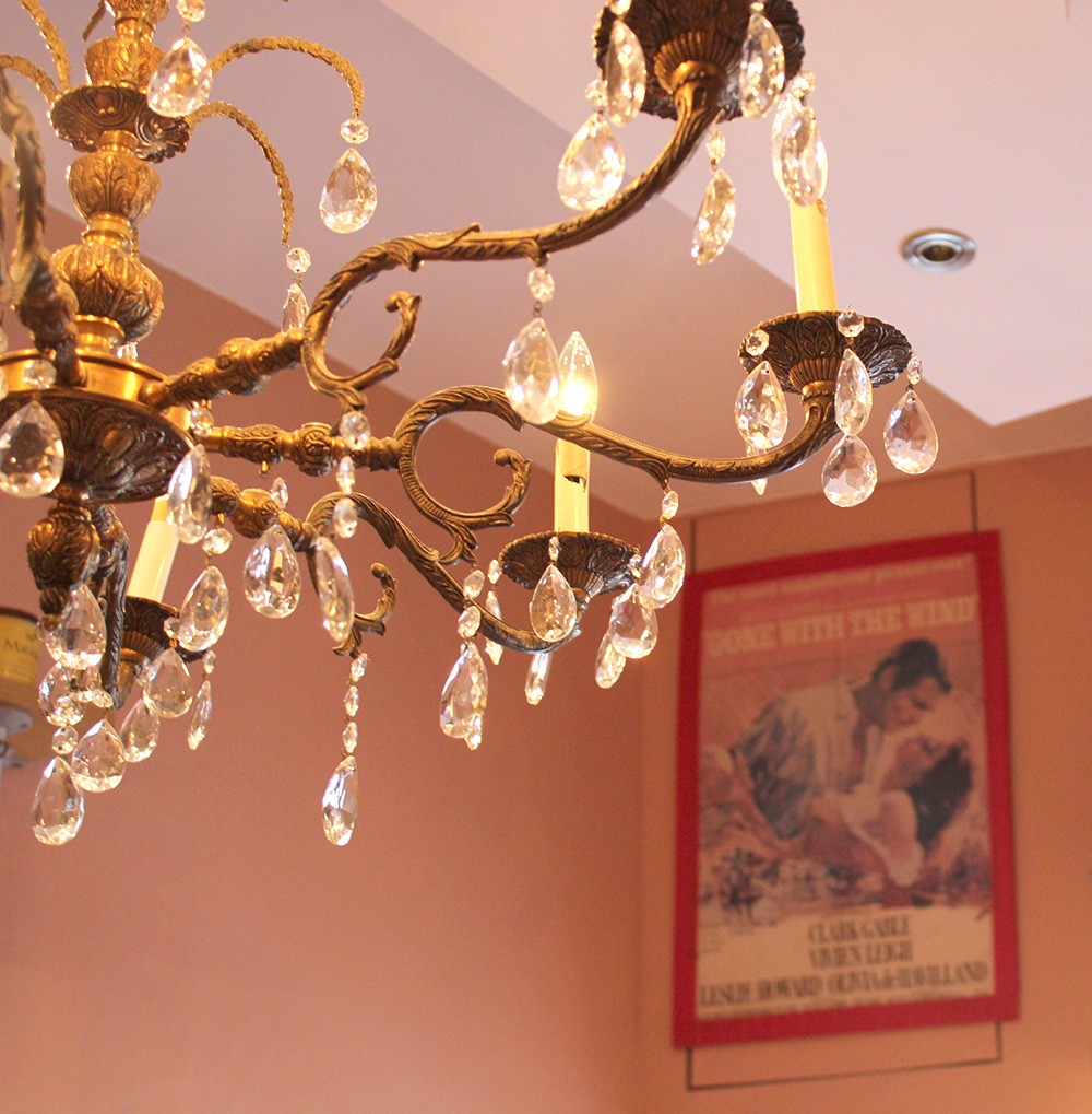 vintage chandelier gone with the wind poster