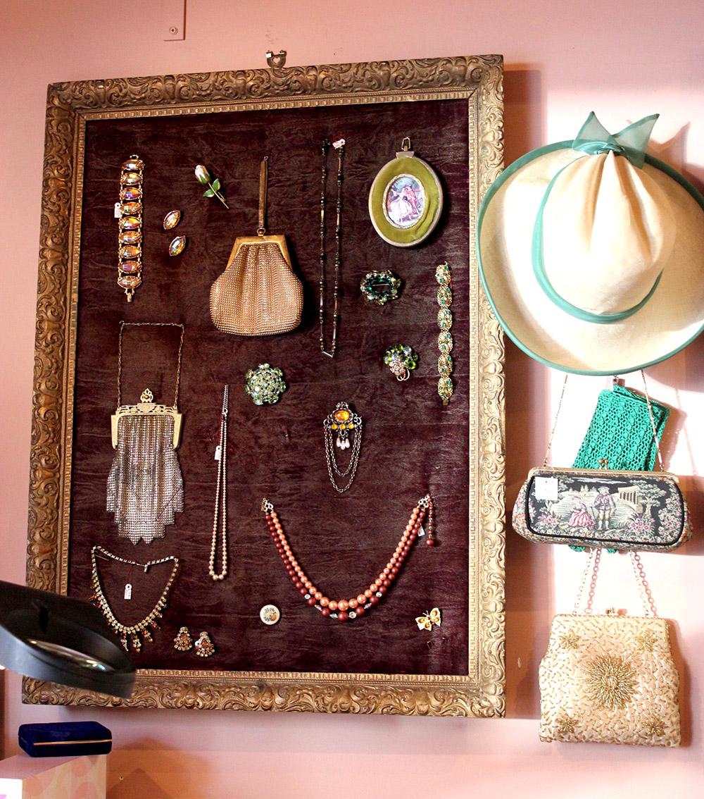 vintage handbags and hats