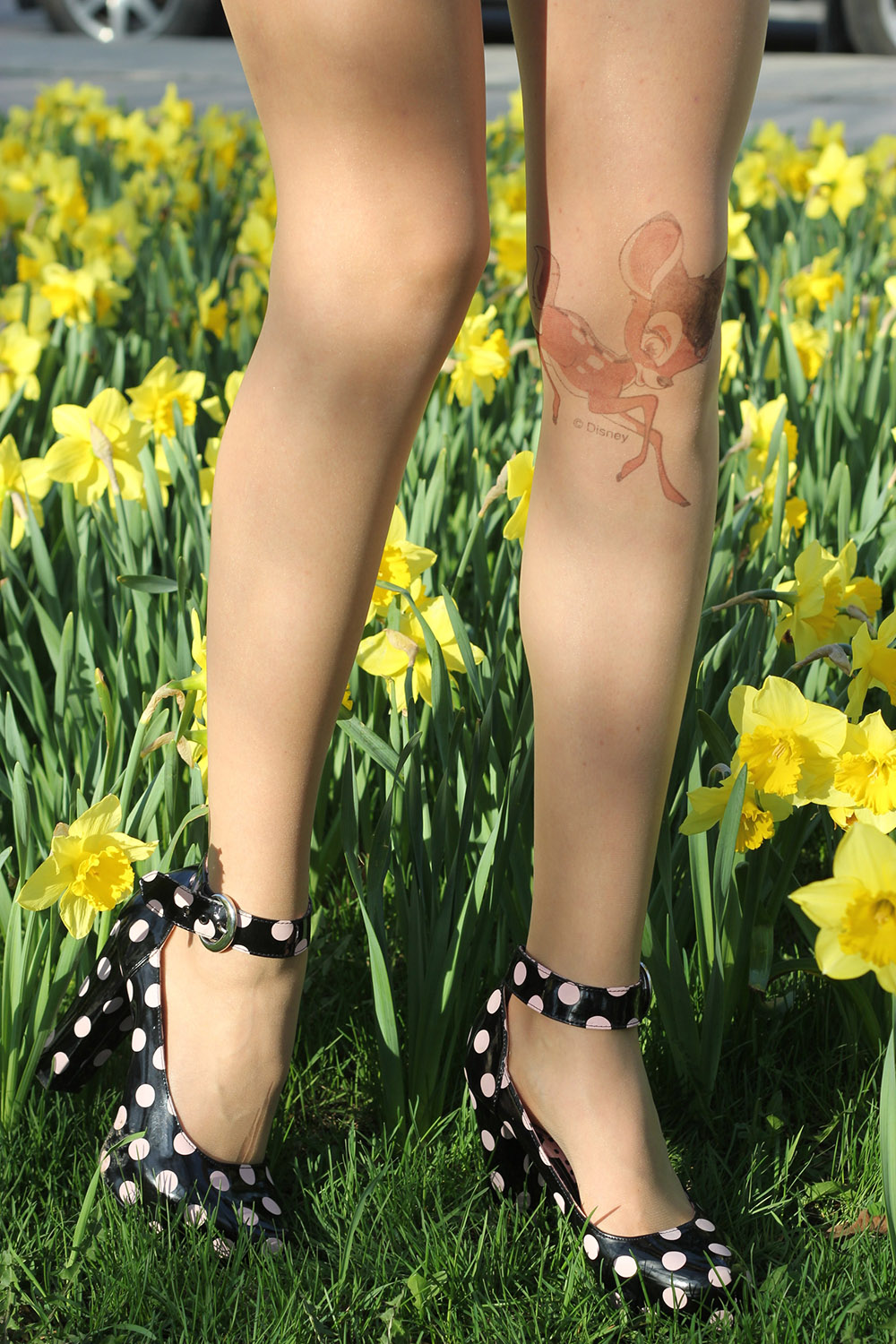 bambi tattoo tights nowistyle