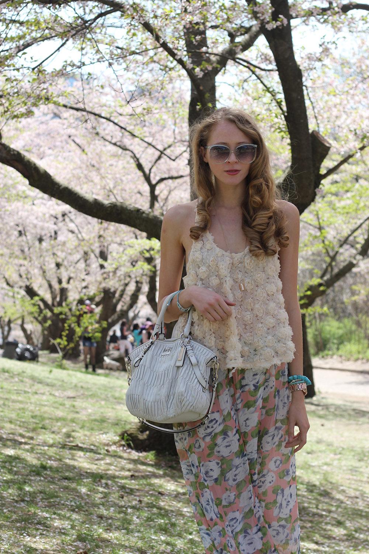 cherry blossom shirt palazzo pants