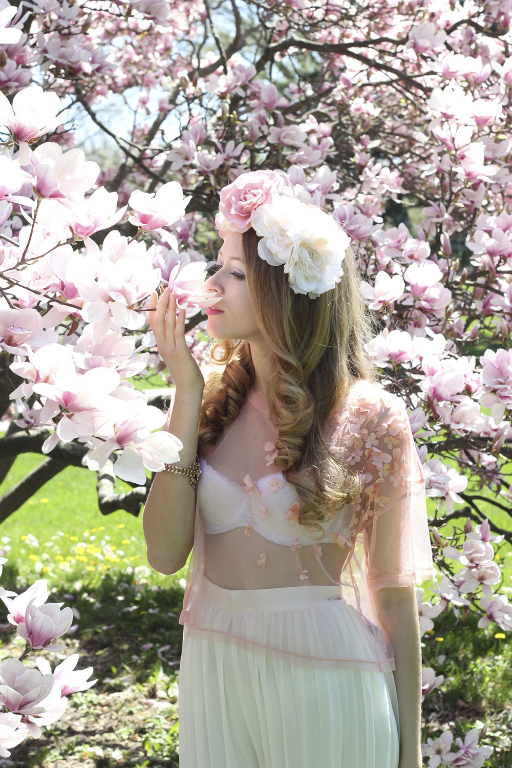 magnolia flower crown 1