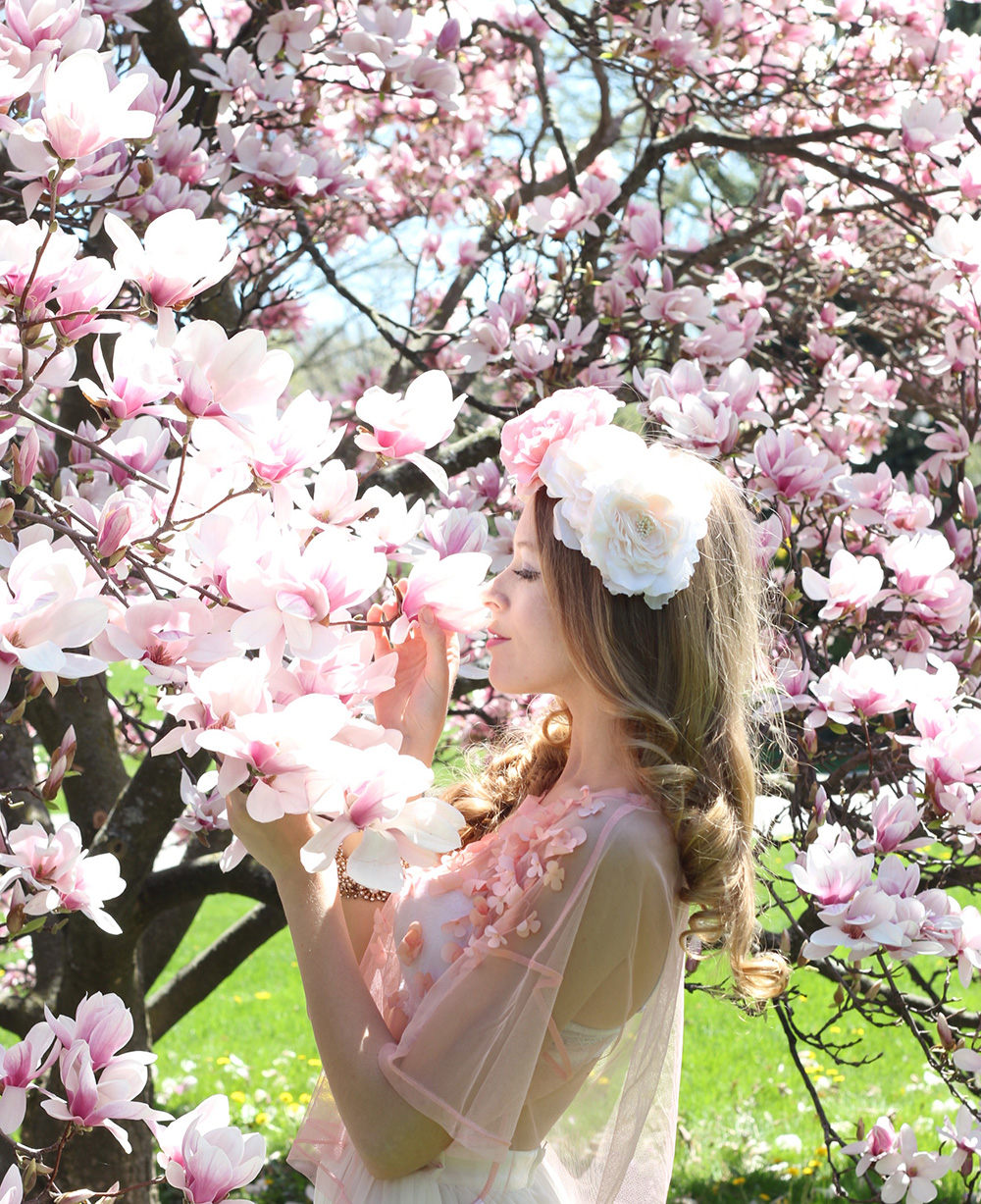 magnolia flower crown 4