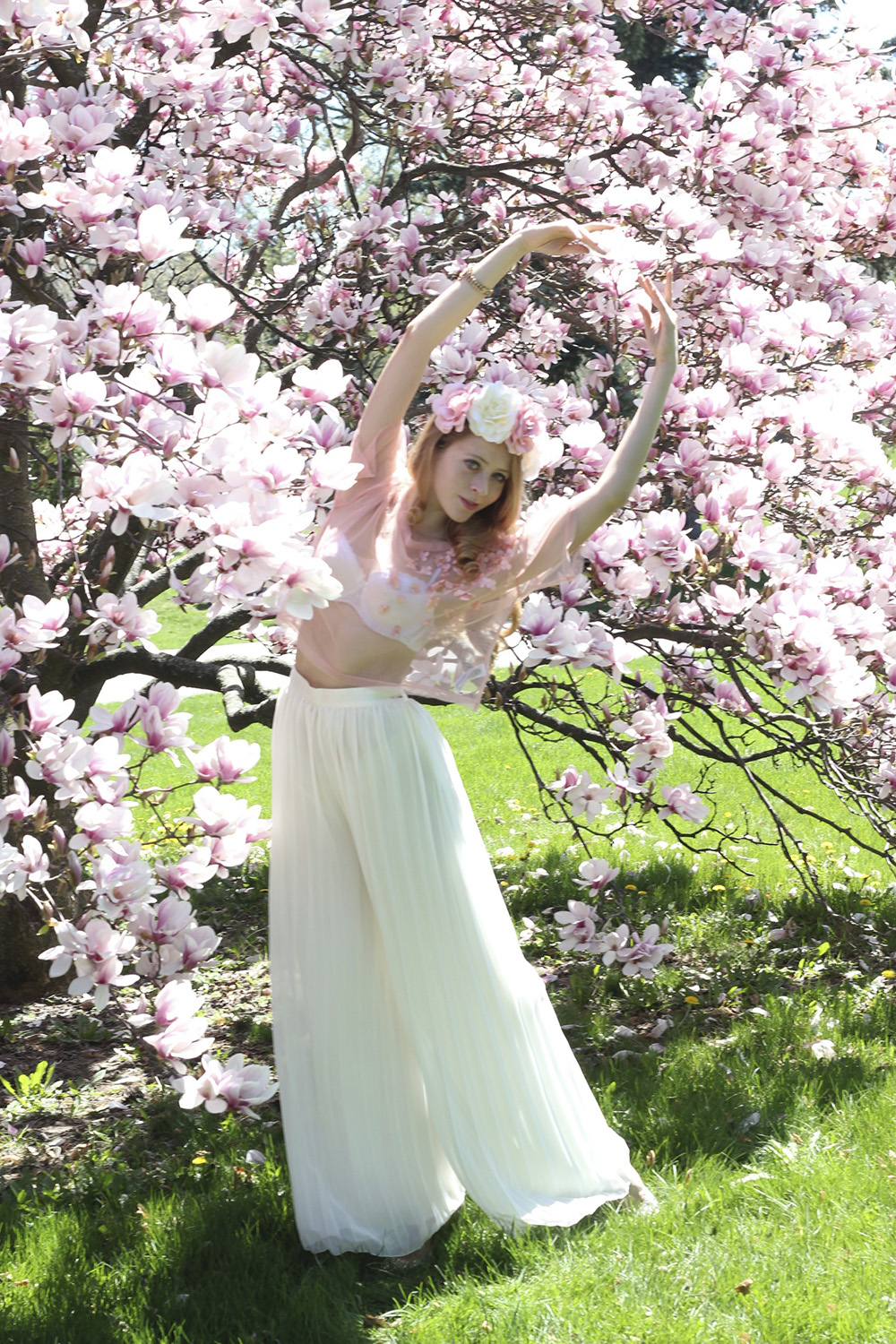 magnolia flower crown ballet
