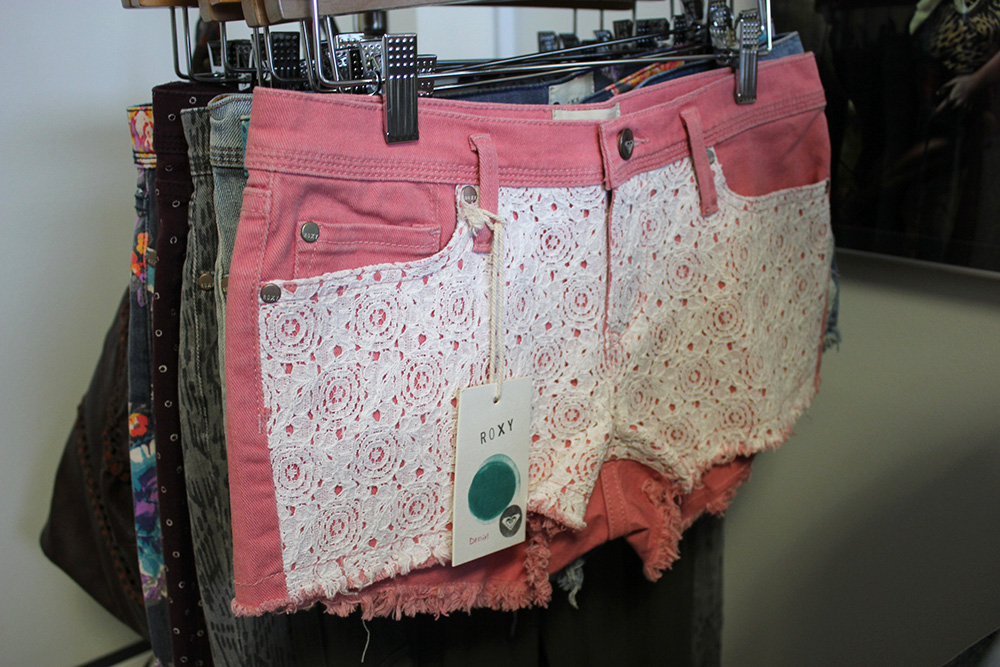 roxy fall 2013 pink lace shorts