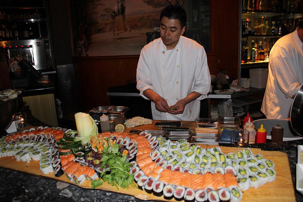 sushi at the drake