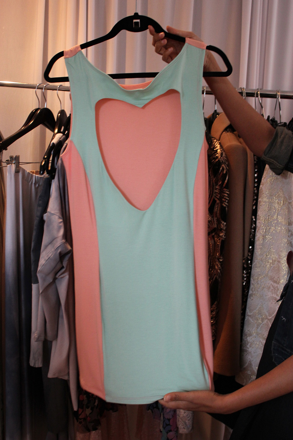 heart back dress