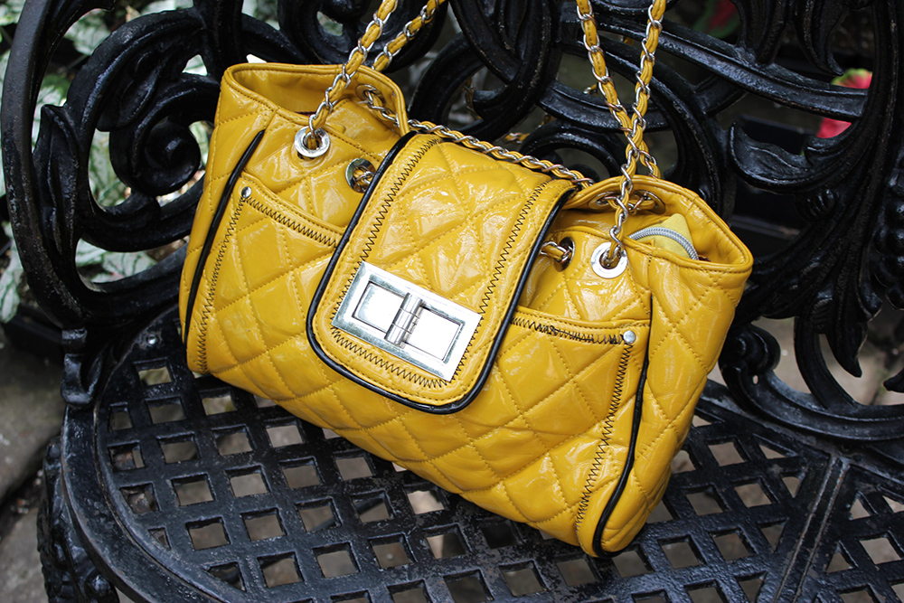 yellow chanel tote