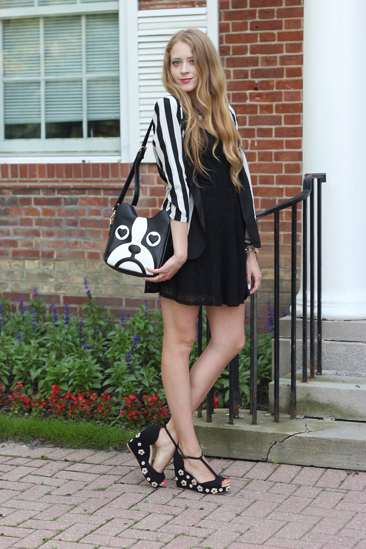 black and white stripes summer