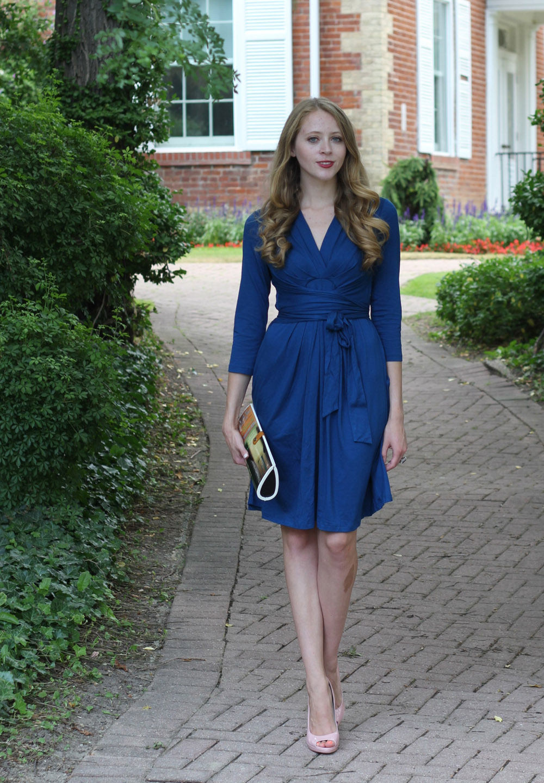 issa for banana republic blue wrap dress