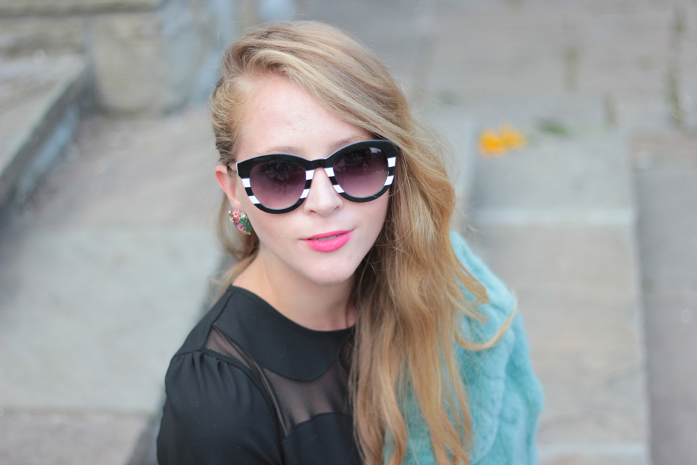 zara striped sunglasses