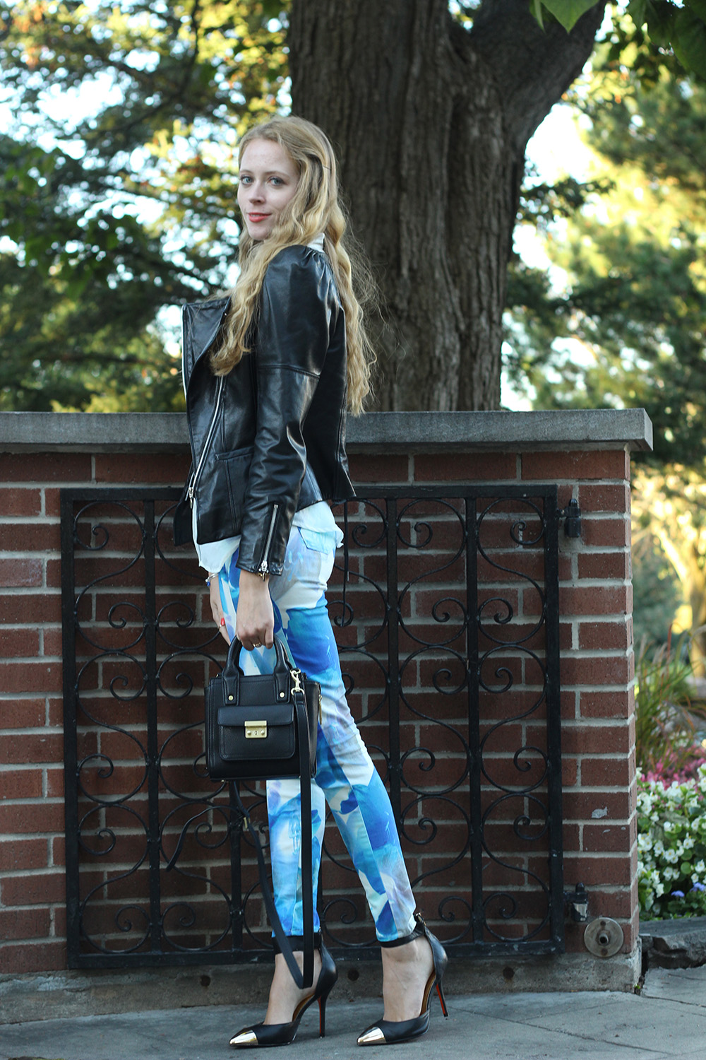 leather jacket and jbrand jeans
