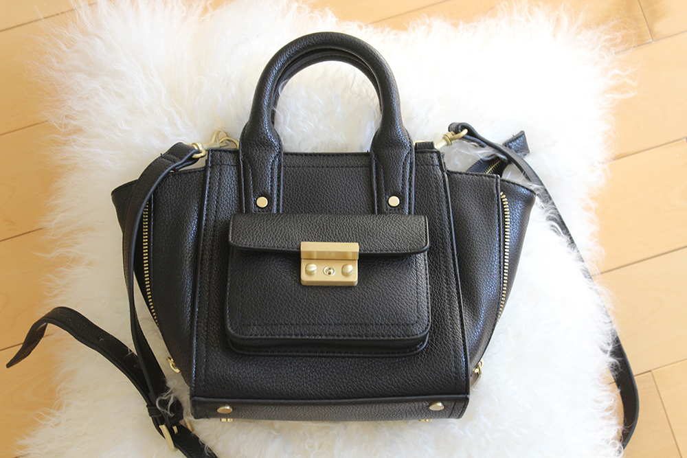 phillip lim for target mini black satchel