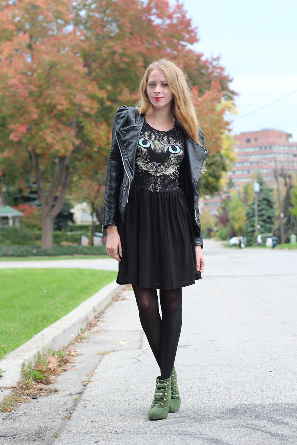 cat dress outfit