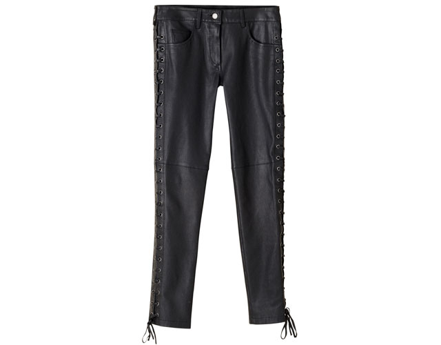 isabel marant black leather pants h&m