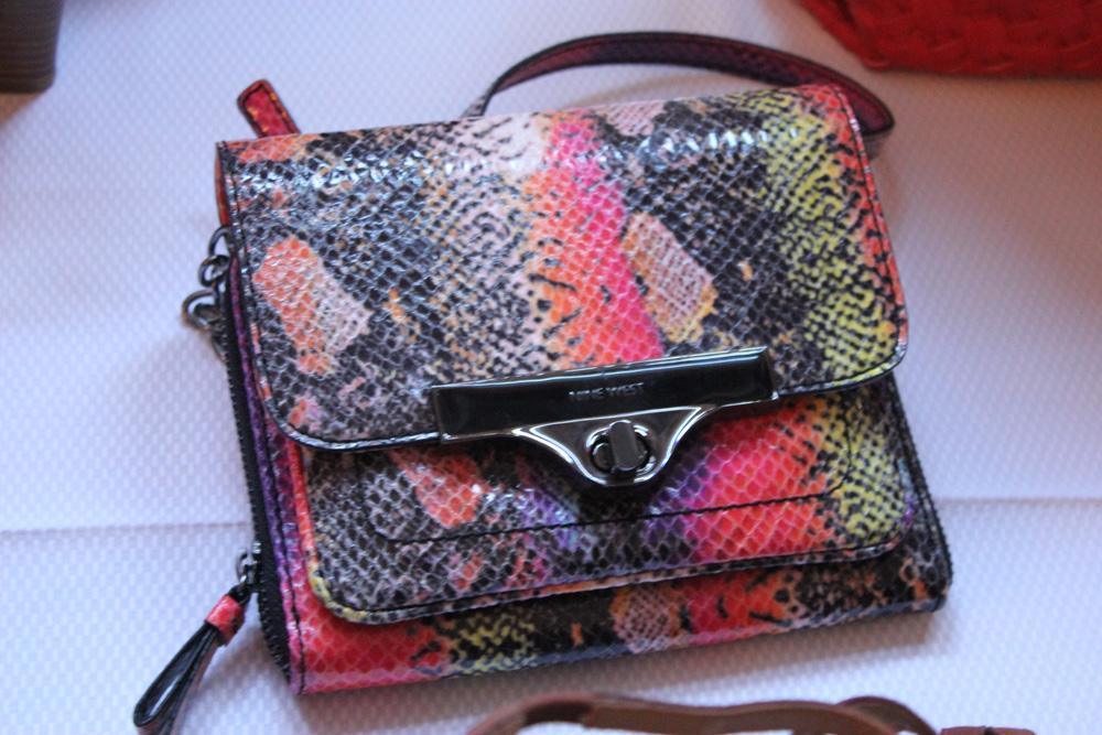 nine west spring 2014 snakeskin purse
