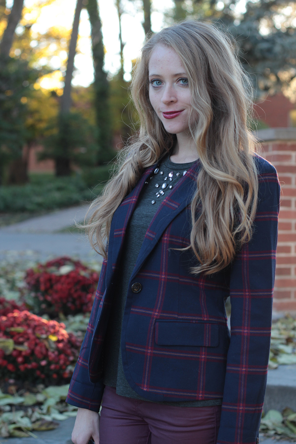 plaid blazer 2