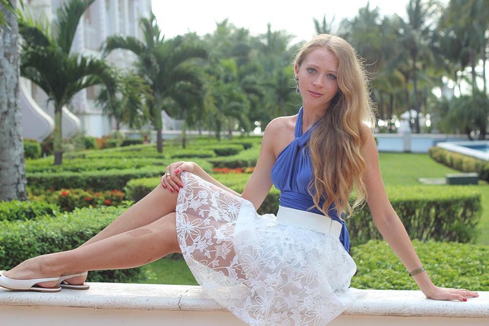 henkaa dress white skirt