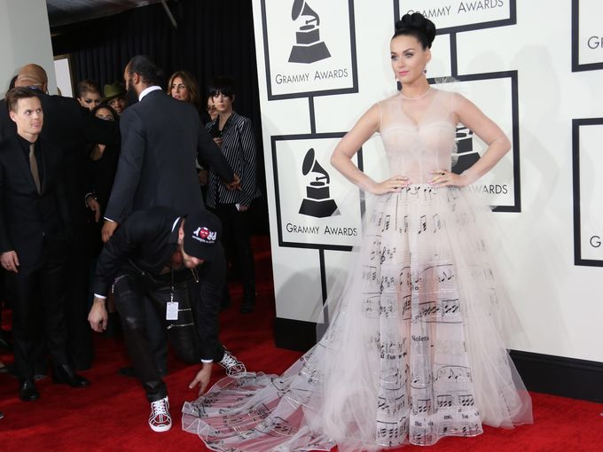 katy perry music notes dres