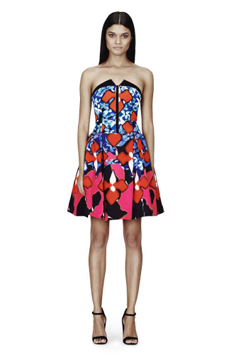 peter pilotto strapless dress