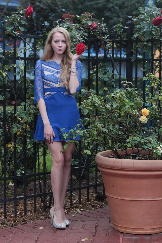 blue lace sheinside dress