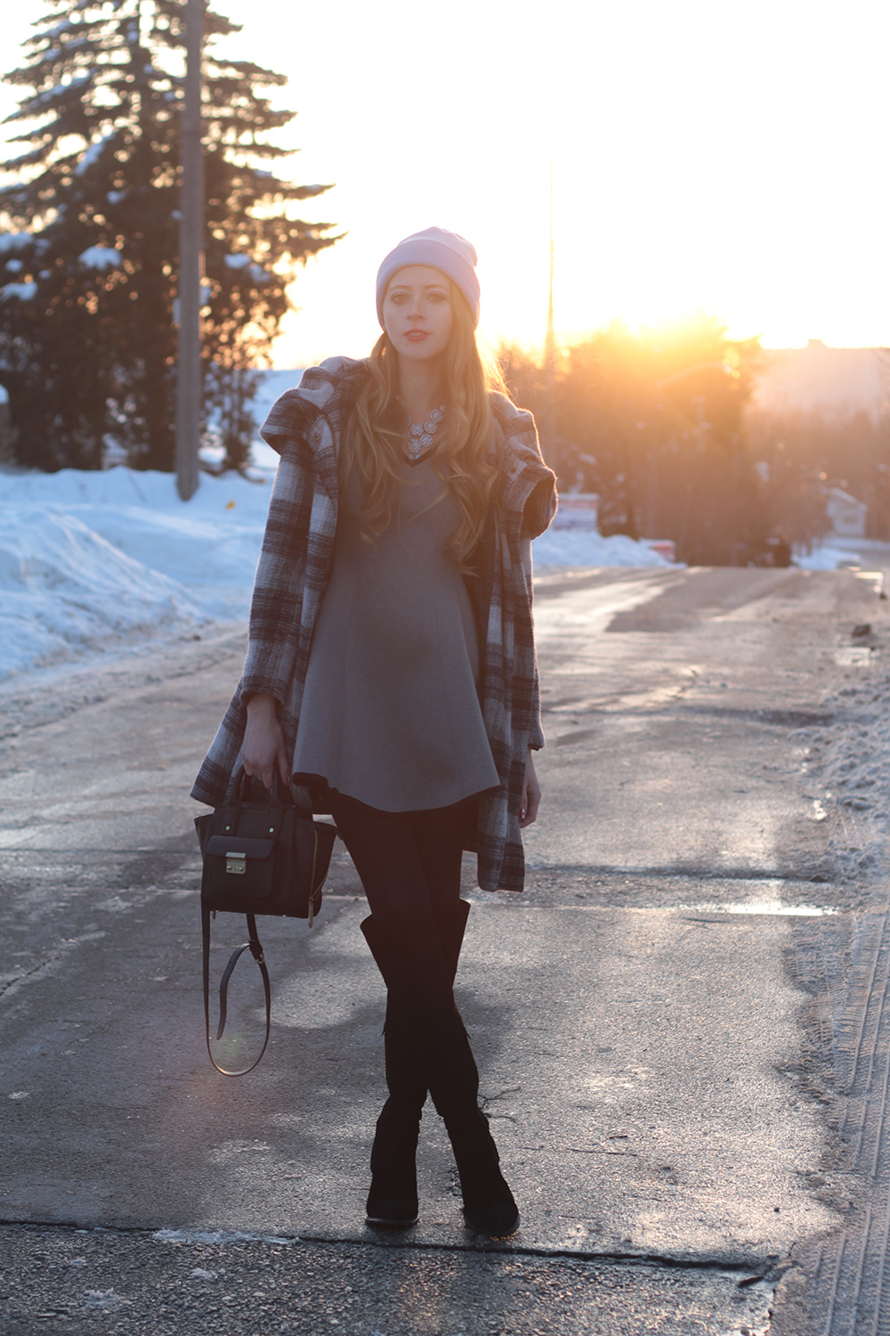 winter sunset outfit