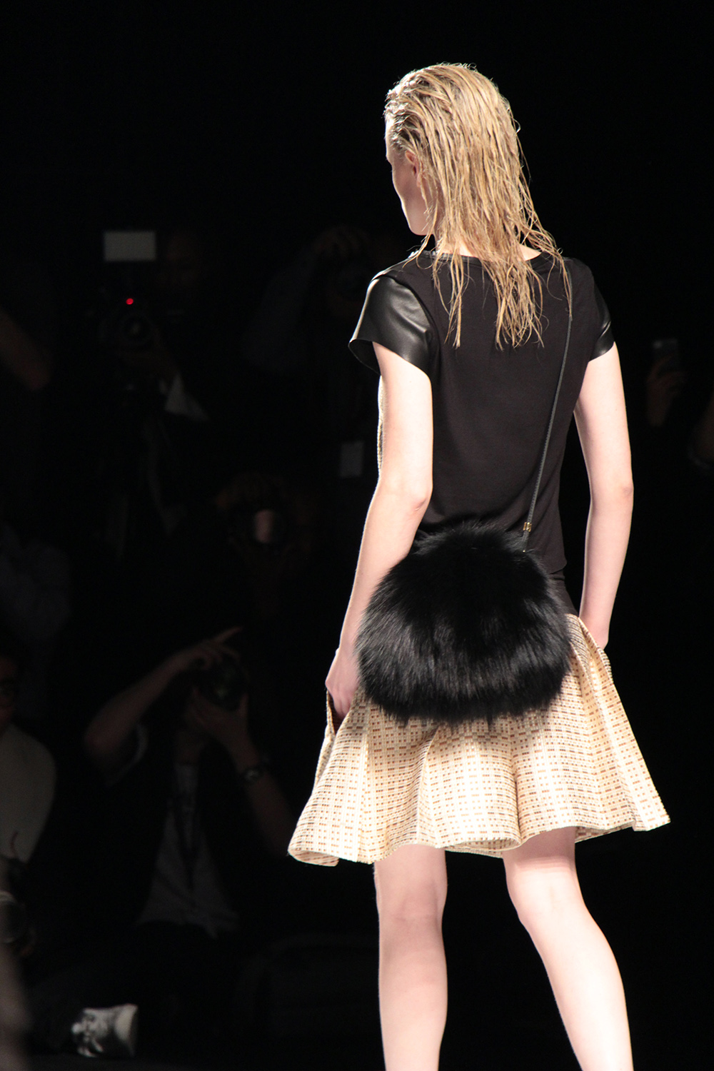 melissa nepton fall 2014 fur handbag