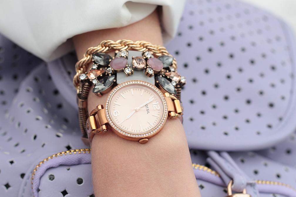 rosegold fossil georgia watch