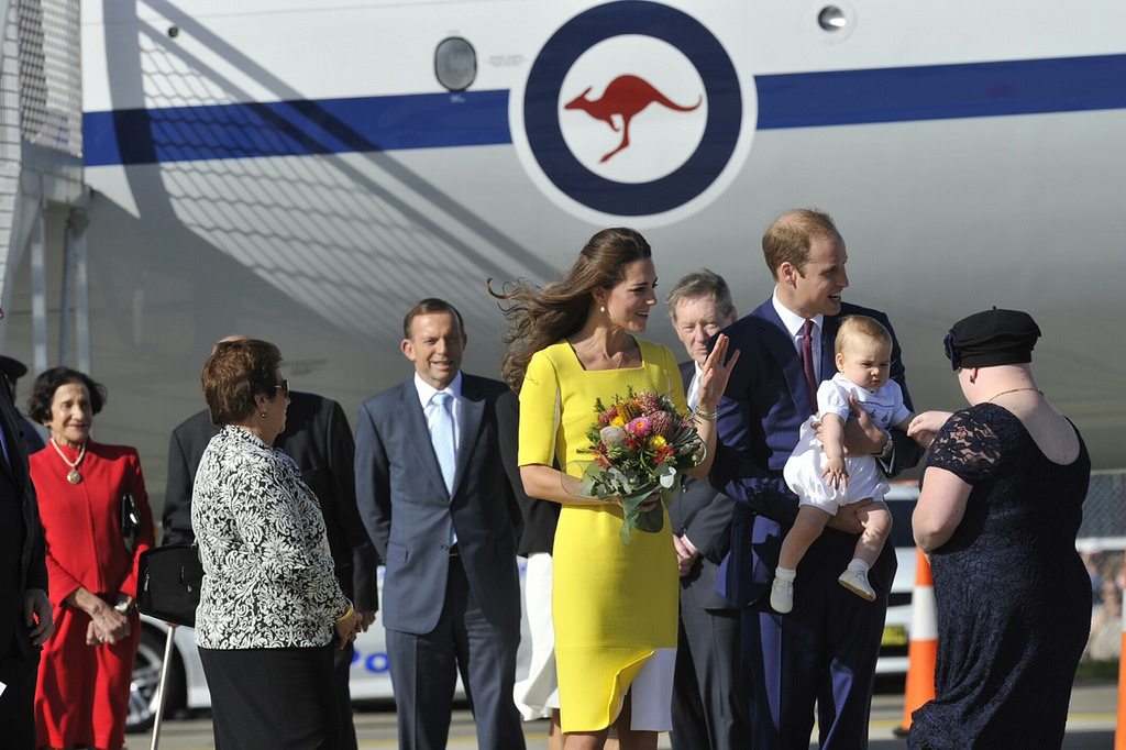 day ten kate middleton australia yellow dress