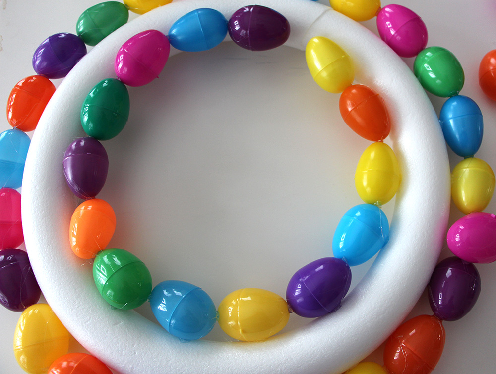 easter egg wreath how to