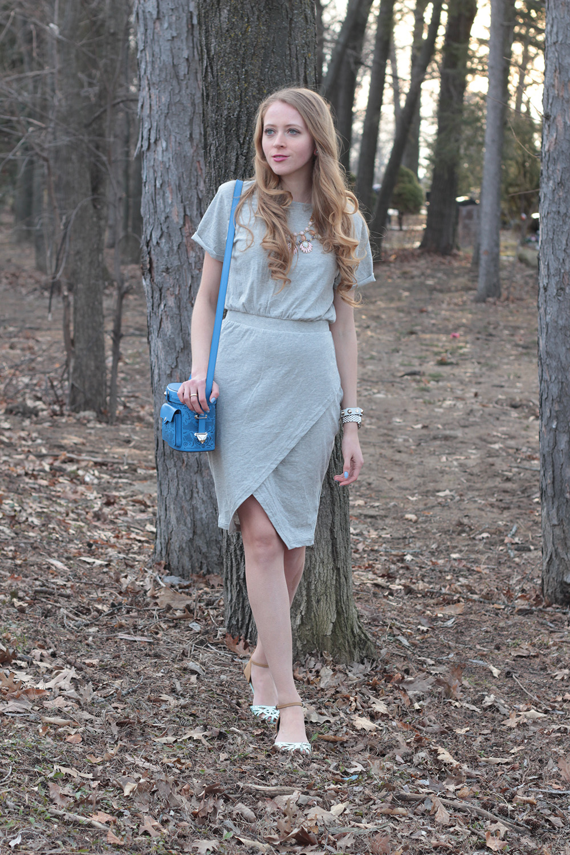 grey foldover persunmall dress