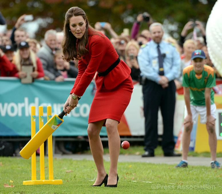 kate middleton 2015 world cup cricket christchurch