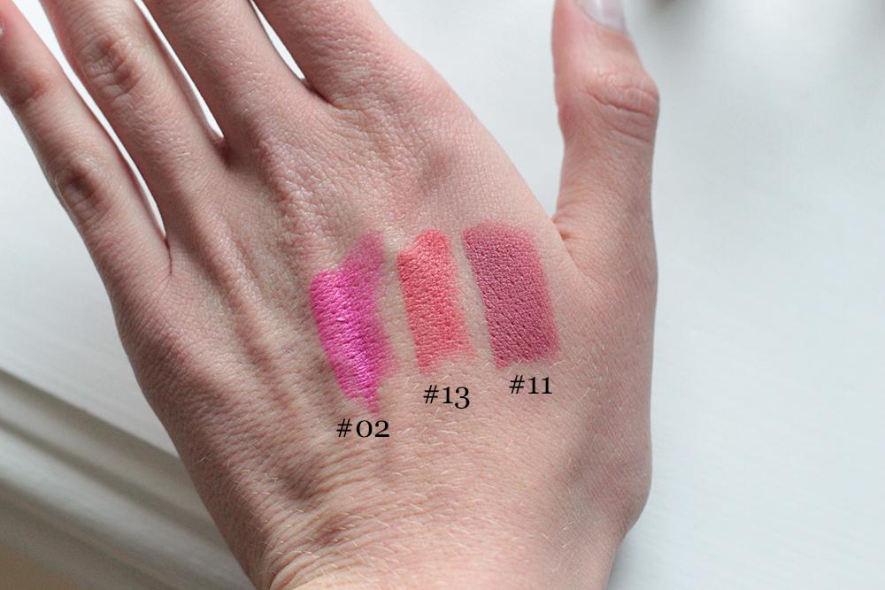nyx matte lipsticks swatches