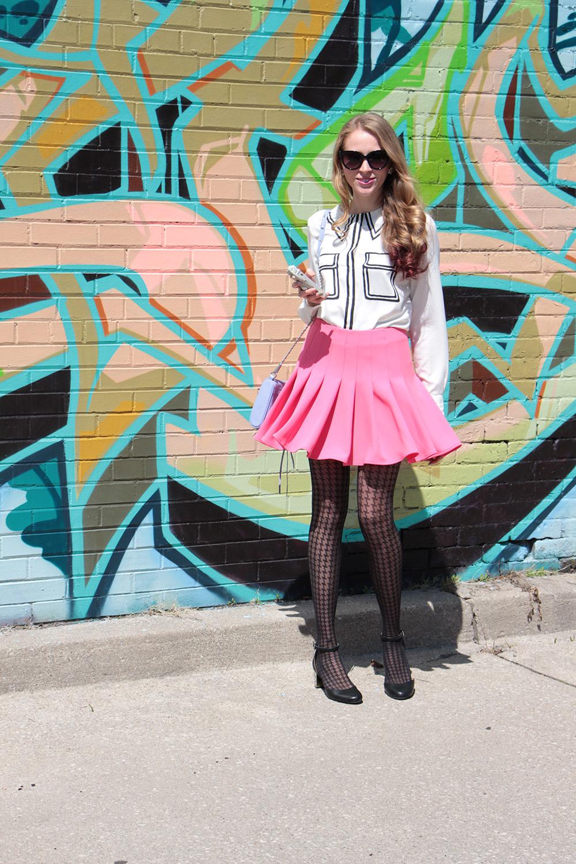 pink miranda kerr skirt from hm
