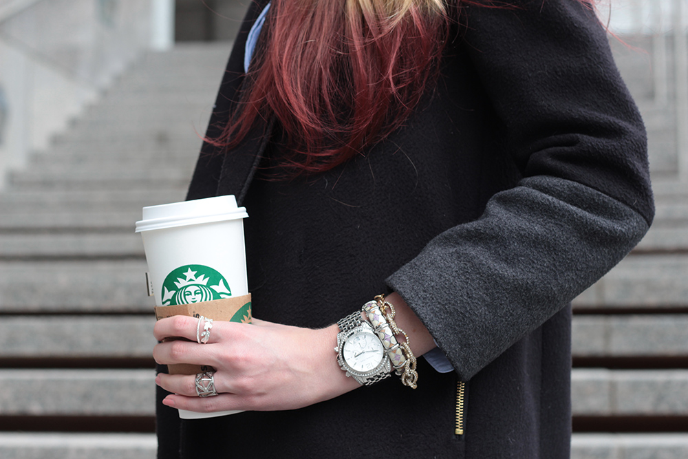 starbucks and jcrew factory jewelry