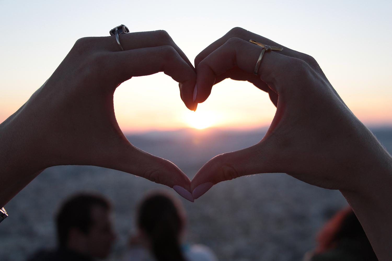 athens sunset heart on mount lycabettus