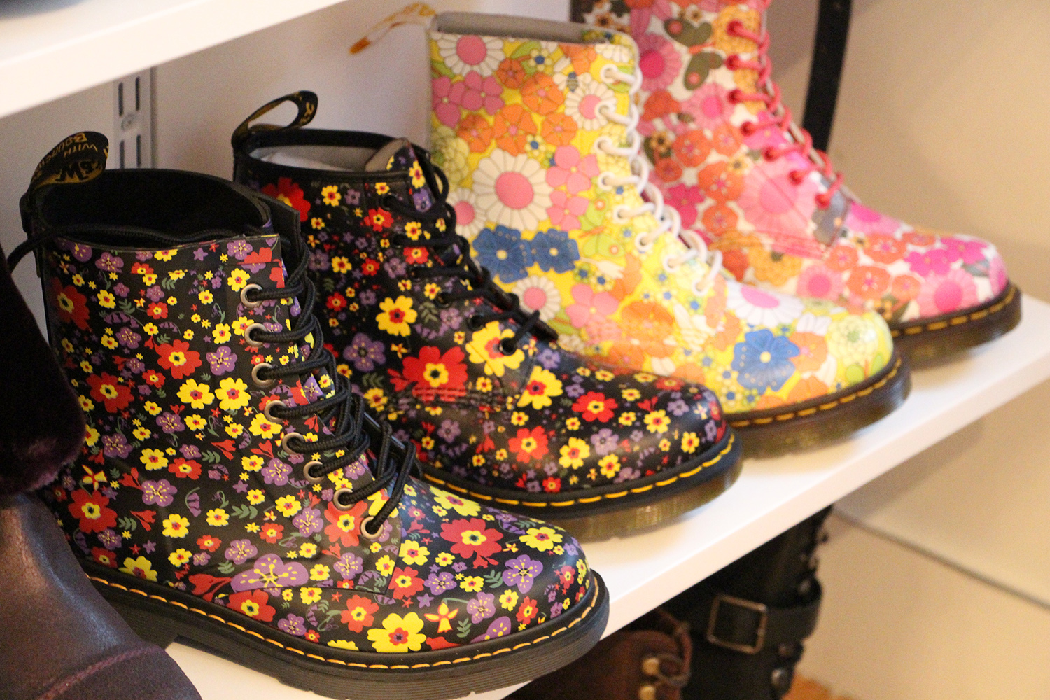 doc martens floral boots for kids