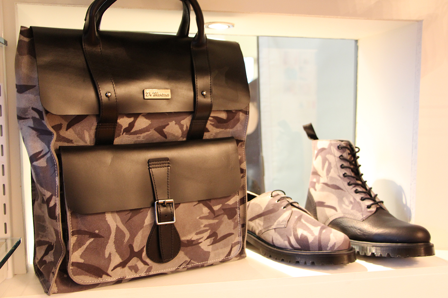 dr martens camo backpack