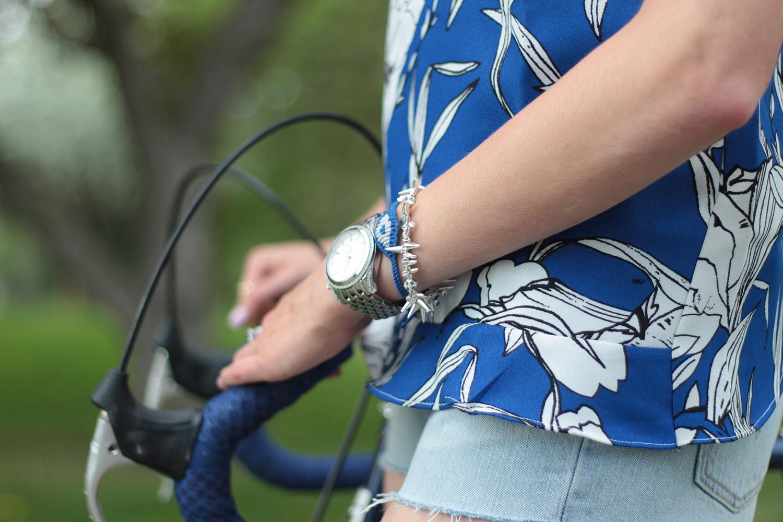 spike bracelet blue eye