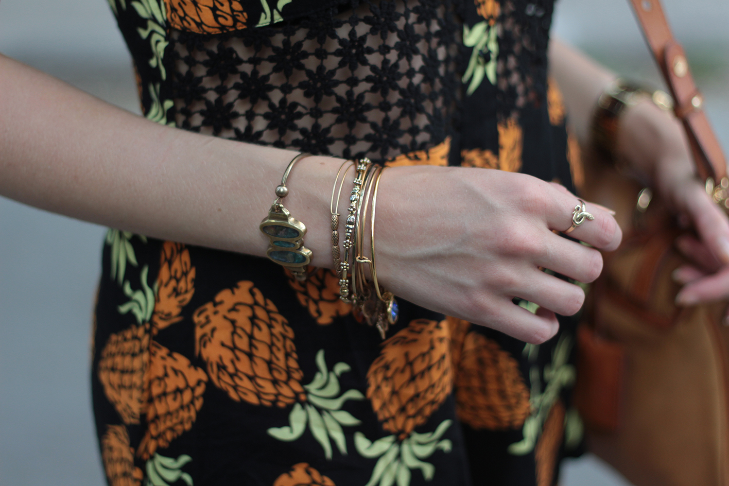 alex and ani bangles pineapple romper
