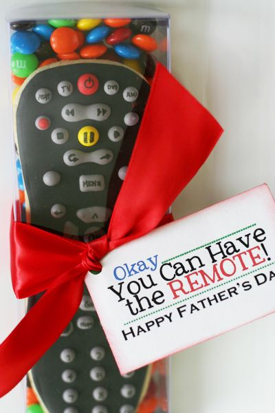 father's day gift idea cookie tv remote